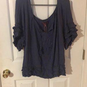 Tops - Denim blue blouse